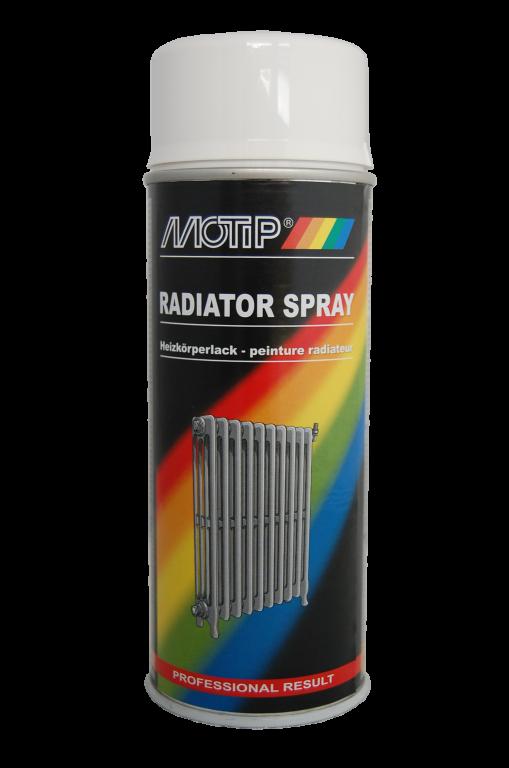 Motip Radiatorspray 400 ml hvid (ral 9010) fra efarvehandel.dk