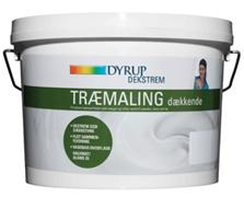 Dyrup – Dekstrem træmaling dækkende hvid 2,25 l fra efarvehandel.dk