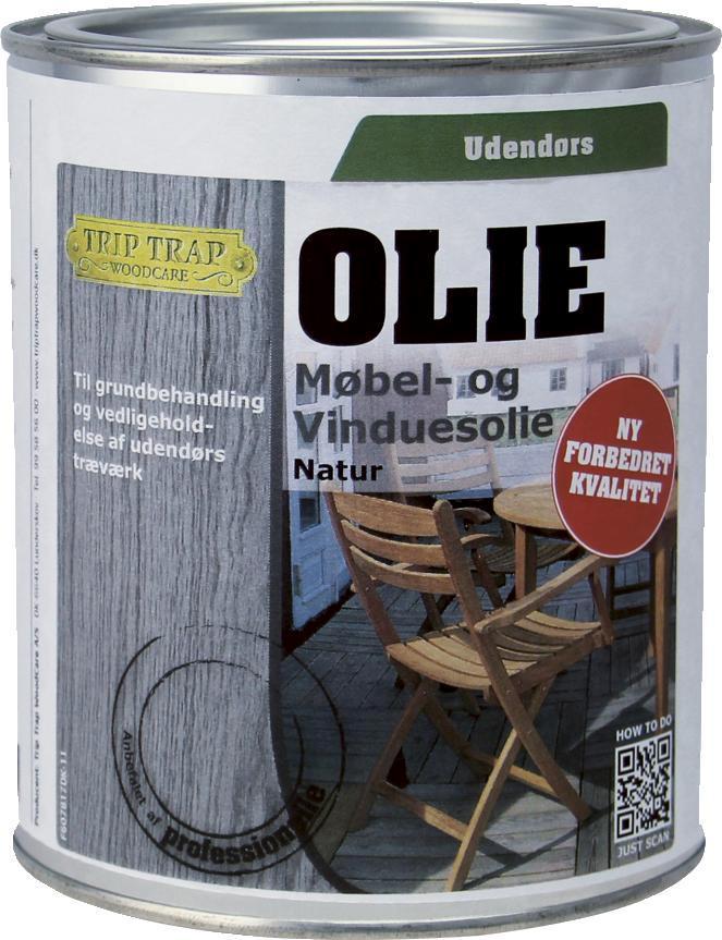 Trip trap Trip trap møbel- og vinduesolie 3/4 l mahogni på efarvehandel.dk