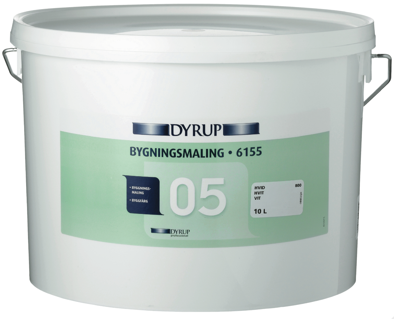 Dyrup bygningsmaling 05 (10 l) råhvid (833) fra Dyrup fra efarvehandel.dk
