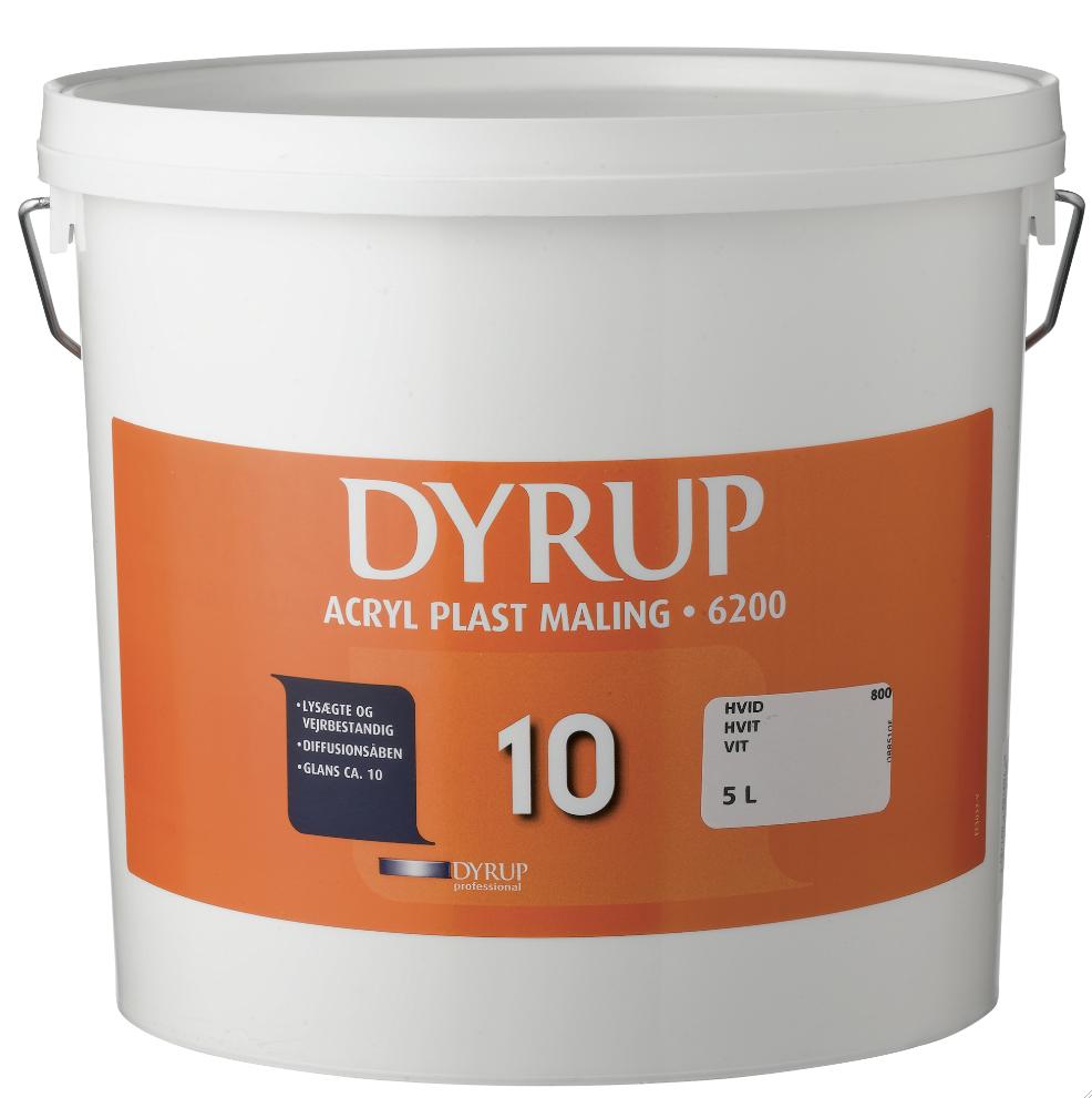Dyrup acryl facademaling hvid  10 l fra Dyrup på efarvehandel.dk