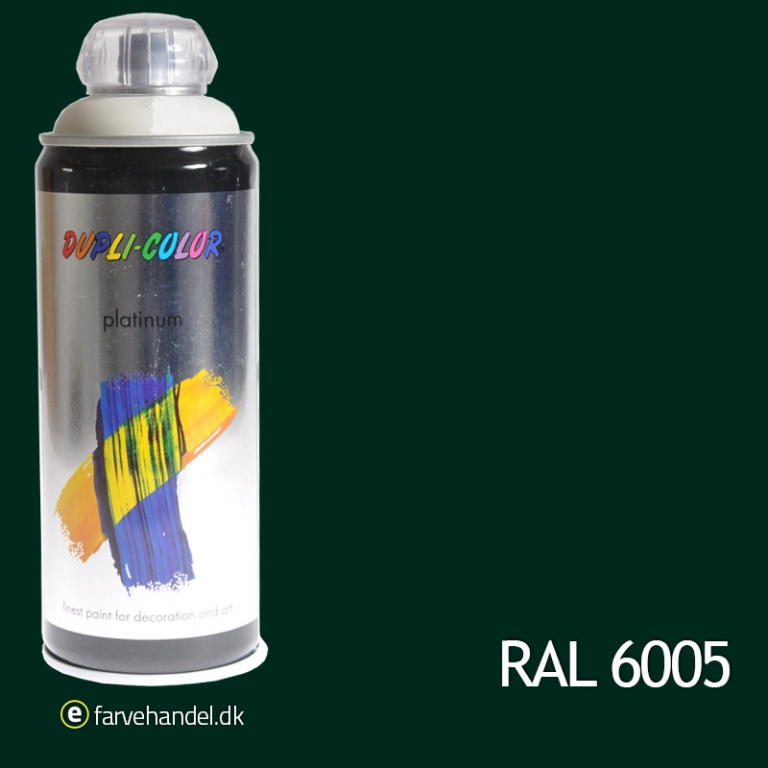 Dupli-color Platinum mosgrøn ral 6005 400 ml 6 stk på efarvehandel.dk