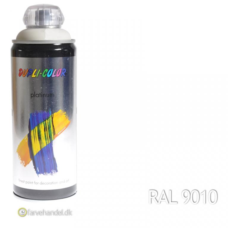 Dupli-color – Platinum hvid glossy ral9010 6 stk på efarvehandel.dk