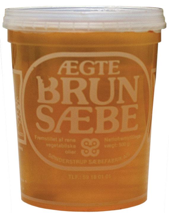 Fast brun sæbe 500 g fra Borup-kemi fra efarvehandel.dk