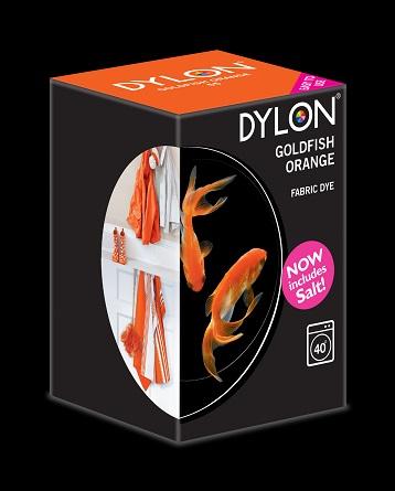 Dylon maskinfarve (goldfish orange) all-in-1 fra Dylon fra efarvehandel.dk