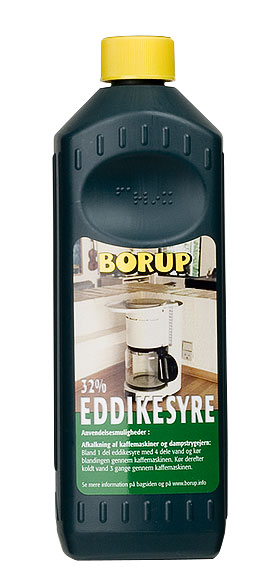 Borup-kemi – Eddikesyre 32% 0,5 l på efarvehandel.dk