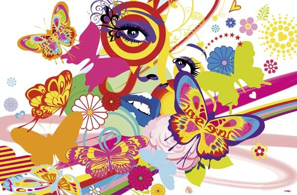 Giant art – Giant art f692 rainbow face fra efarvehandel.dk