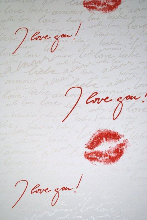 Dahls tapet – 50301 i love your lips på efarvehandel.dk