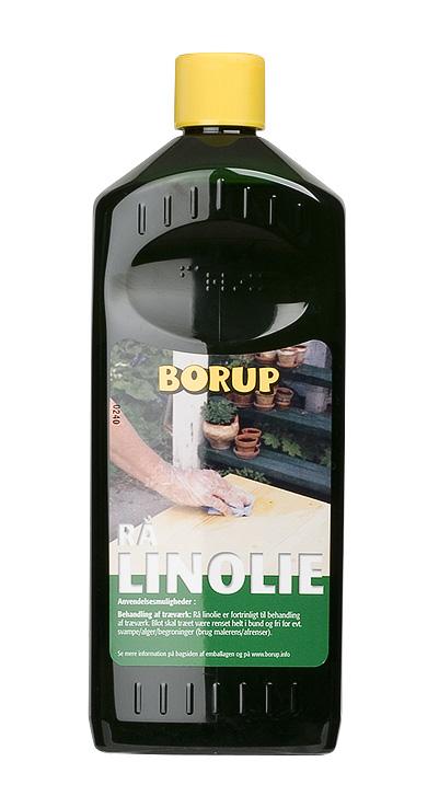 Borup-kemi – Linolie rå 0,5 l på efarvehandel.dk
