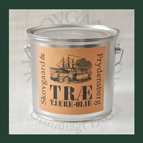 Skovgaard & frydensberg – Trætjæreolie 2,5 liter tjærebrun på efarvehandel.dk