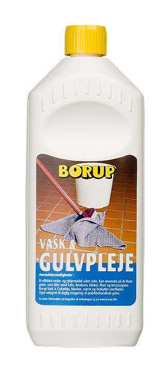 Borup-kemi Vask og gulvpleje 1 l fra efarvehandel.dk