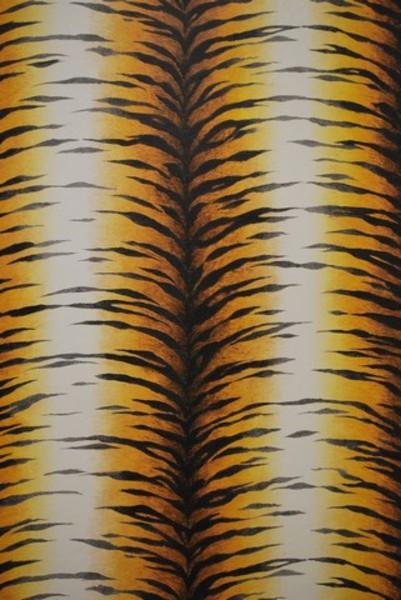 Dahls tapet Yellow tiger - tapet på efarvehandel.dk