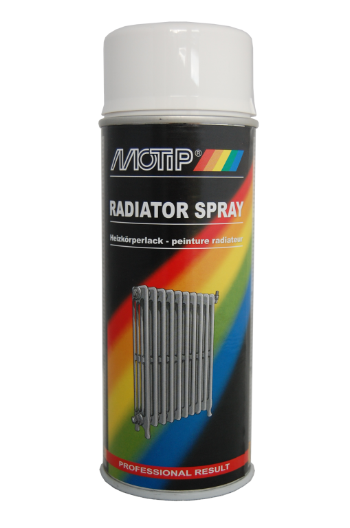 Image of   Motip Radiatorspray 400 ml Hvid (Ral 9010)