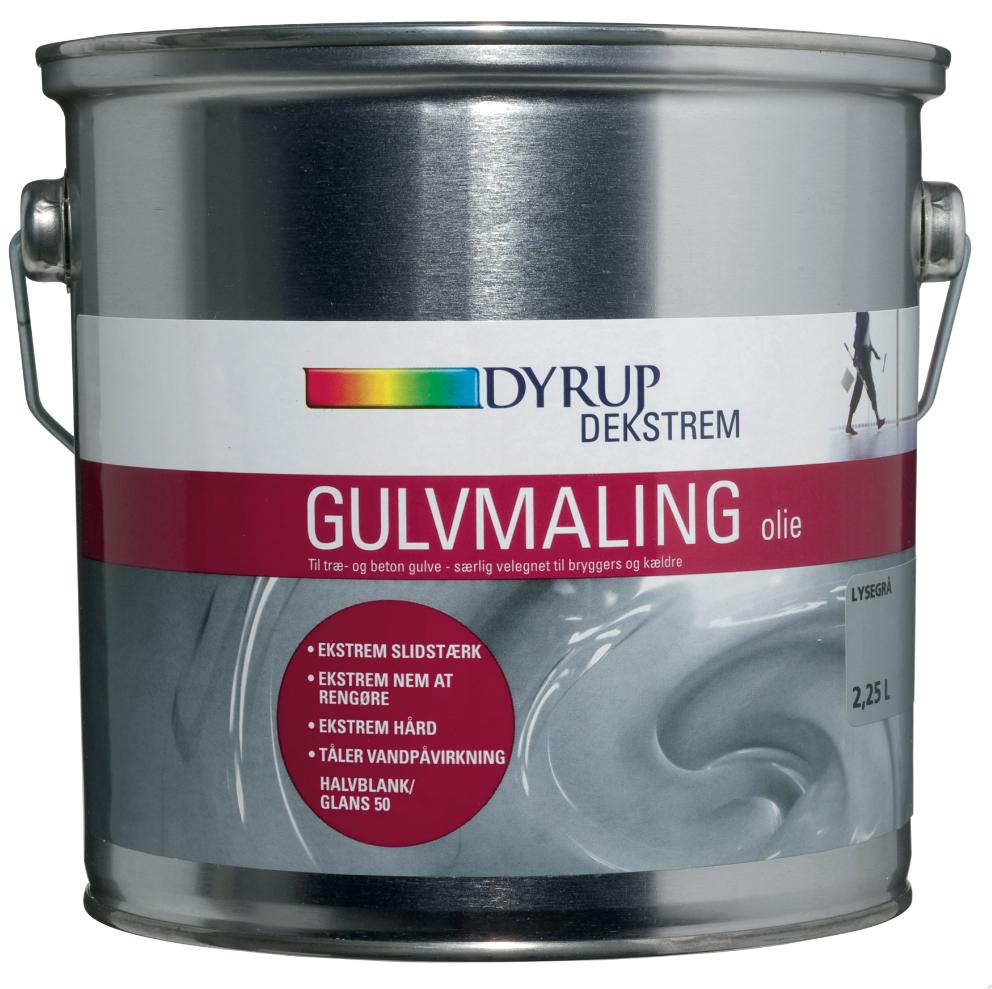 Image of   Dekstrem gulvmaling olie 2,25 L Hvid
