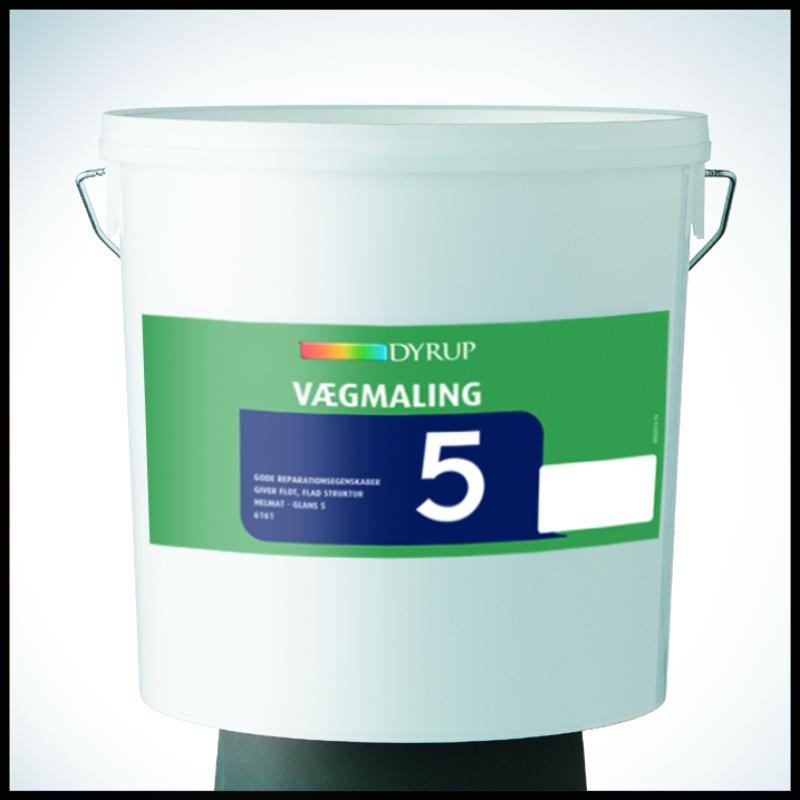 Image of   Dyrup akryl plast vægmaling glans 5 Hvid (800) 10 L