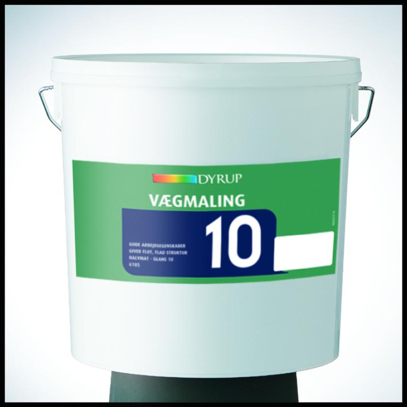 Image of   Dyrup akryl plast vægmaling 10 hvid 10 L Hvid (800)