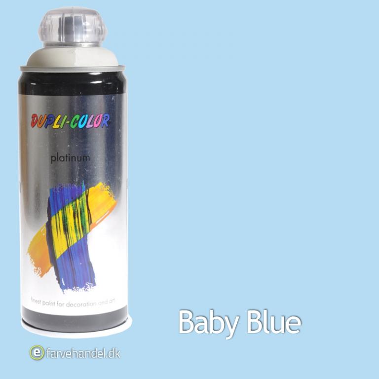 Platinum Babyblå Mat 400ml 6 stk