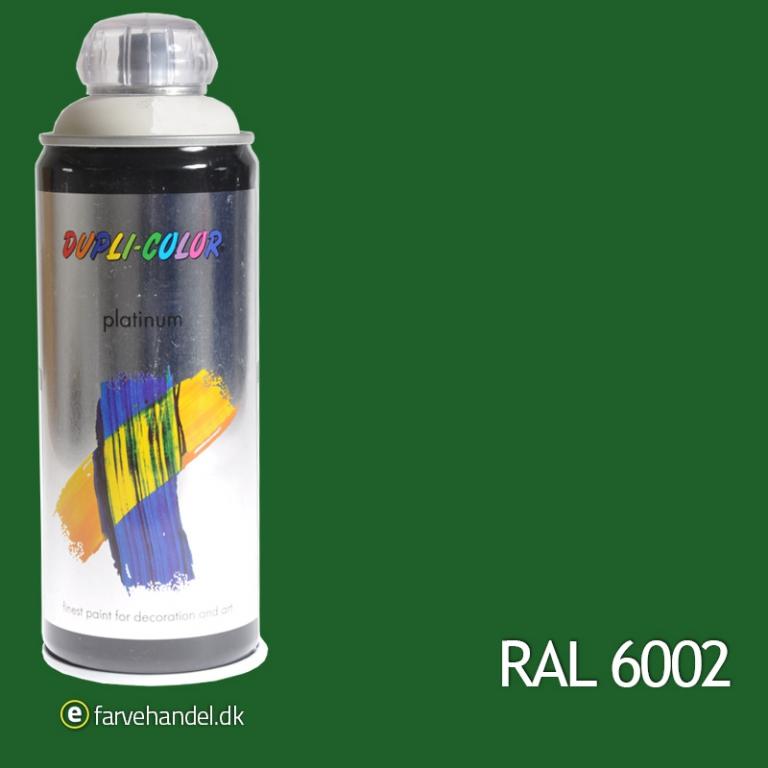 Platinum Løvgrøn Mat RAL6002 6 stk