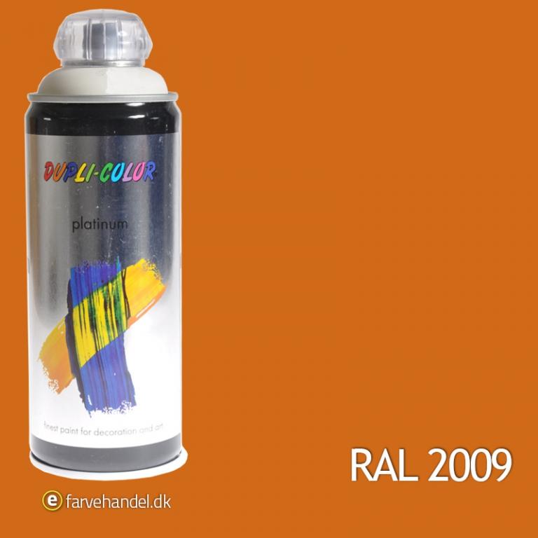 Platinum Trafikorange Mat RAL2009 6 stk