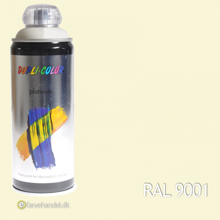 Platinum Cremehvid Mat RAL9001 6 stk
