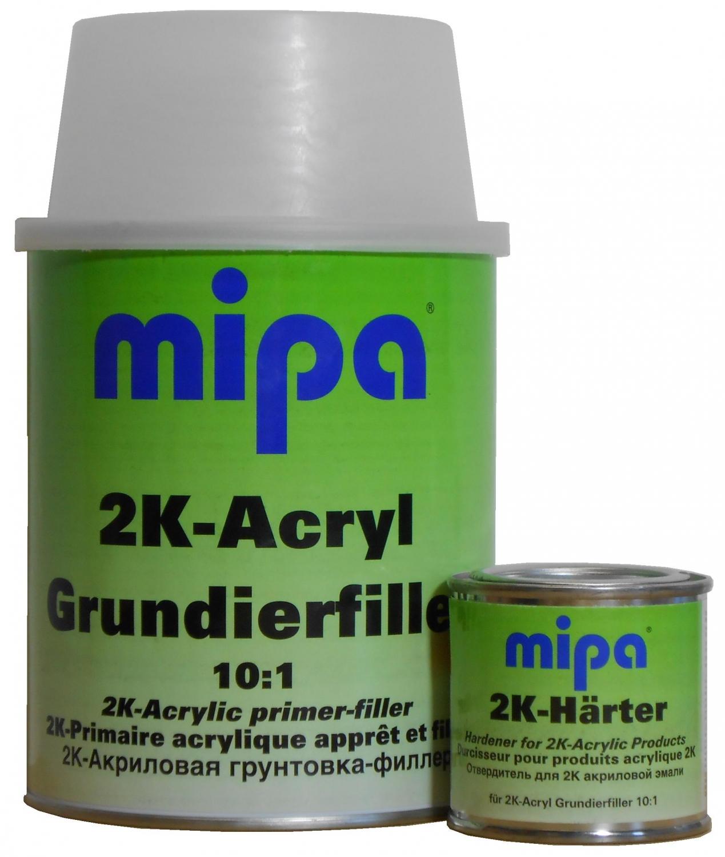 Mipa 2K Acrylgrunder grå m/hærder 5 L